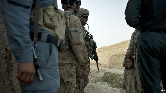 Joint Isaf-Afghan patrol in Afghanistan (file)