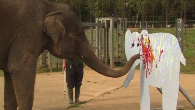Elephant painting elephant canvas