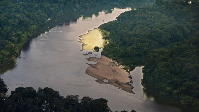 Aerial view of Amazon River