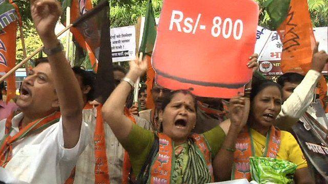 Protesters in Mumbai