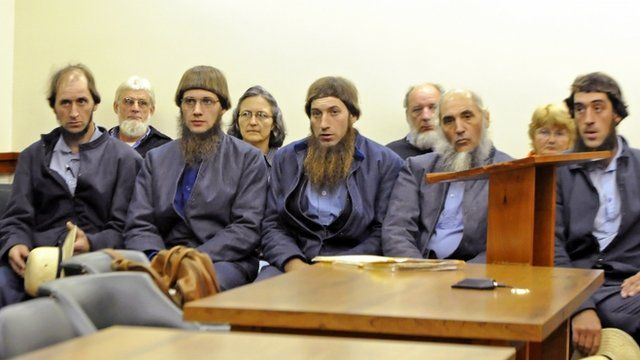 Amish group in court