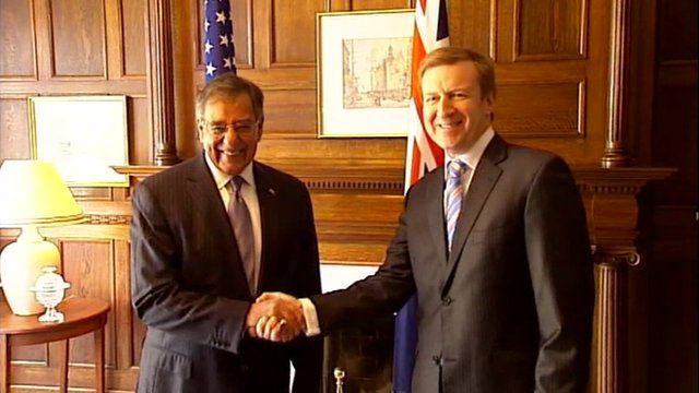 US Defence Secretary Leon Panetta and New Zealand Prime Minister John Key