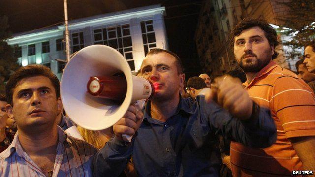Anti government protests in Tbilisi