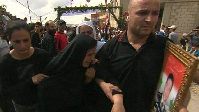 Widow of fallen soldier in the village of Addalia