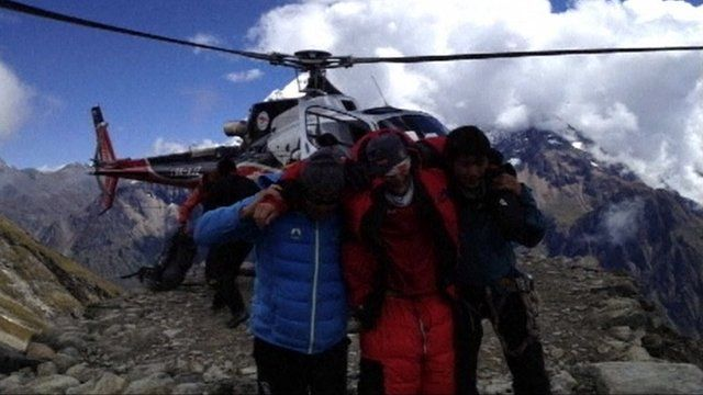 Survivors of Nepal's avalanche
