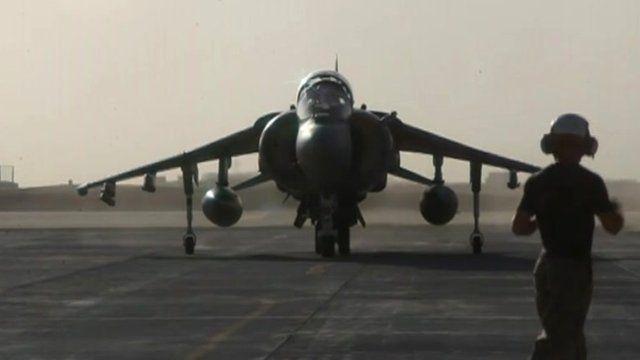 Harrier at Camp Bastion
