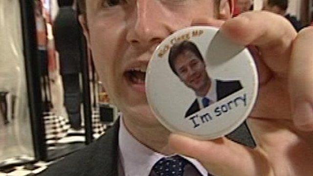 Nick Clegg badge
