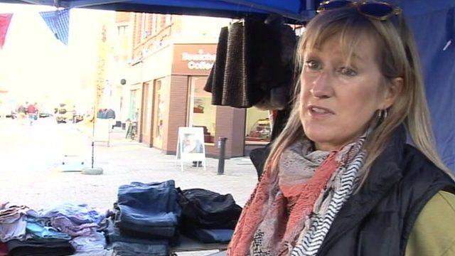 Jo Barker, Kettering market stallholder