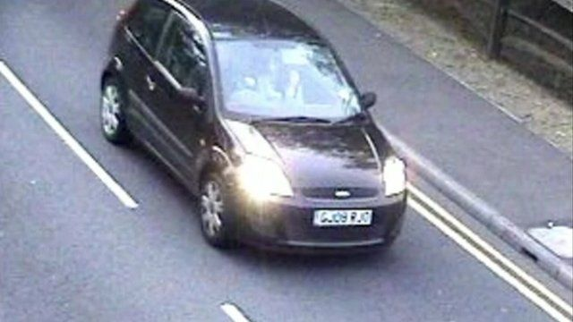 A CCTV image of the pair in Mr Forrest's car on their way to Dover Ferry Terminal last Thursday