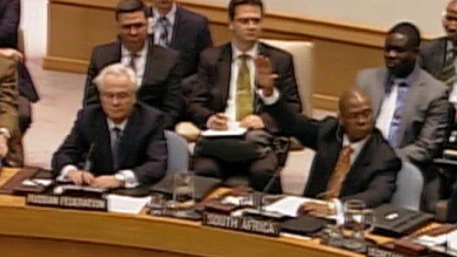Diplomats at the UN General Assembly