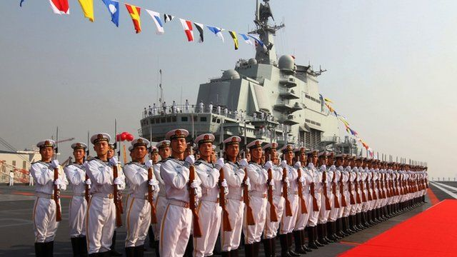 Armed forces and aircraft carrier