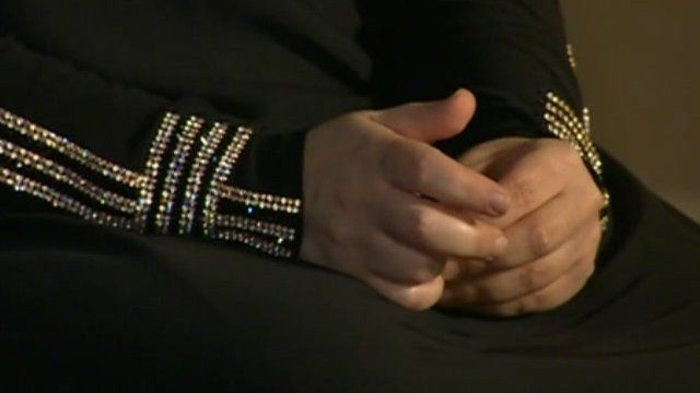 Syrian woman's hands