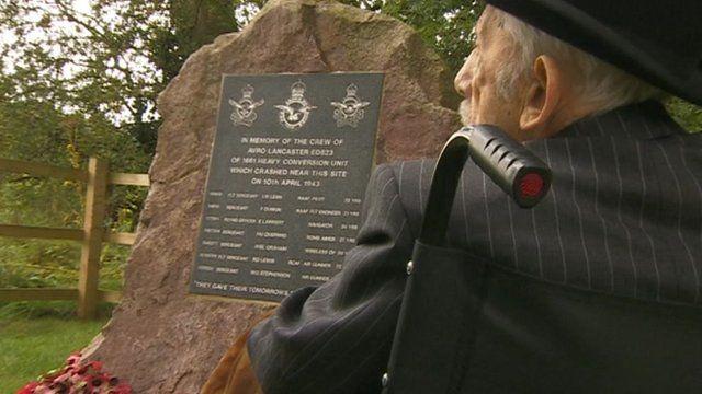 Veteran at the new memorial