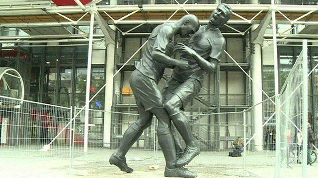 Statue of Zidane's head-butt