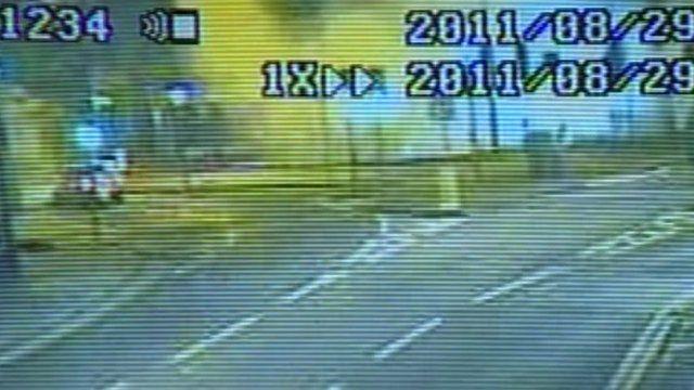 Explosion captured on CCTV