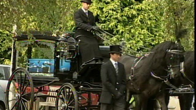 Jay Whiston's funeral