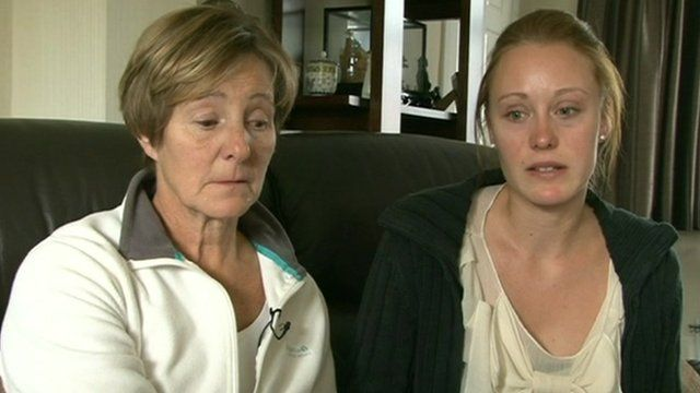 Angie Gaunt and her daughter Joanna pay tribute to Timothy Oakes