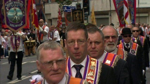 Unionist parade
