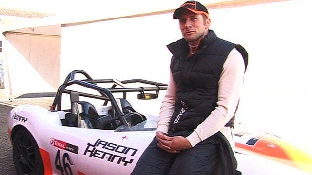 Jason Kenny and his race car