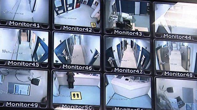 CCTV camera screens