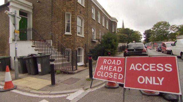 A closed road