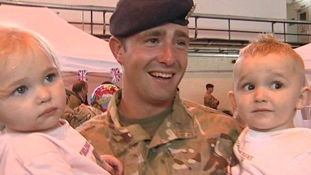 A soldier from Oxfordshire reunited with his family