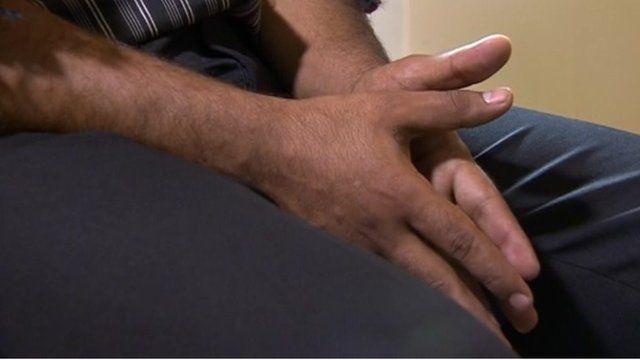 Victim's hands