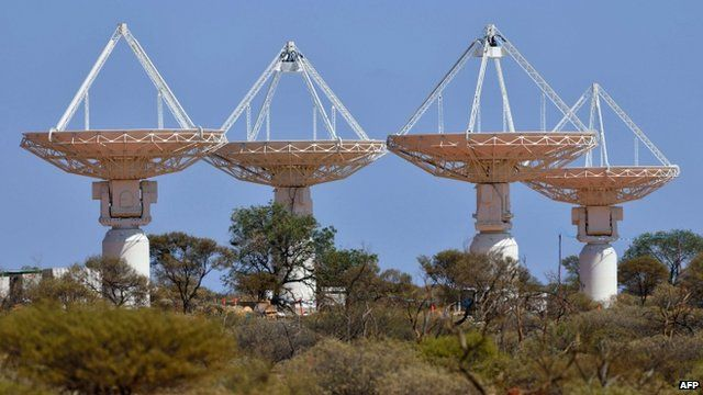 Some antennas of the Australian SKA Pathfinder telescope