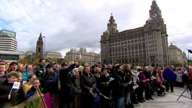 Beatles world record set at Liverpool's Pier Head