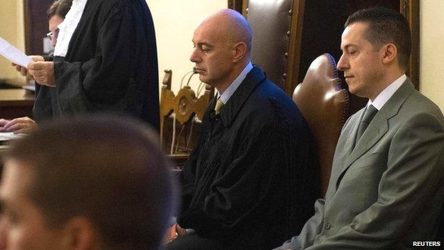 Paolo Gabriele (R) in court on 29 September