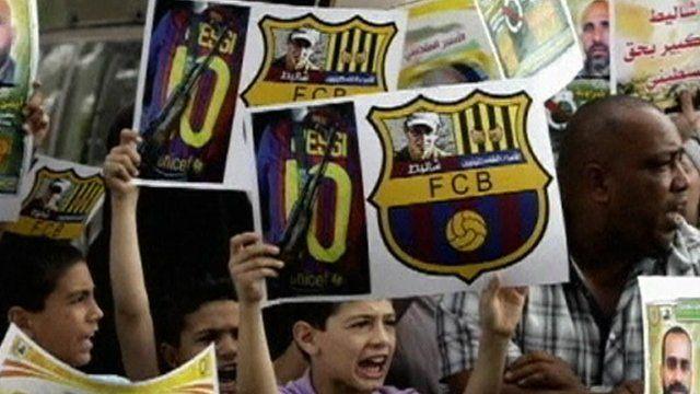 Barcelona fans in Gaza