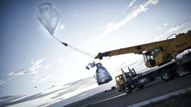 Launching the balloon and capsule