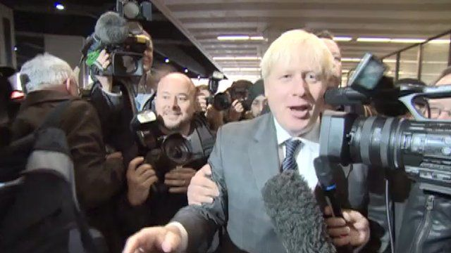 Boris Johnson at the Tory party conference in Birmingham