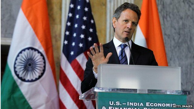 US Treasury Secretary Tim Geithner in India June 2011