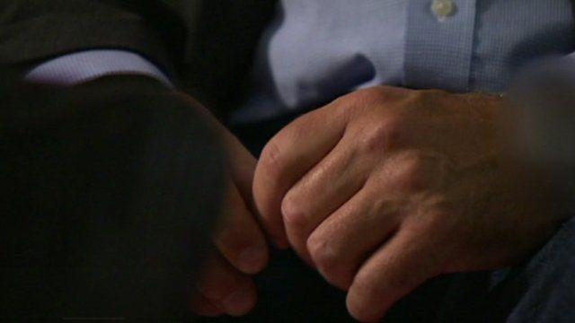 Raymond Gilmour's hands