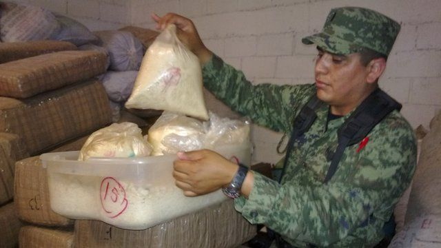 Drugs seized by the Mexican army