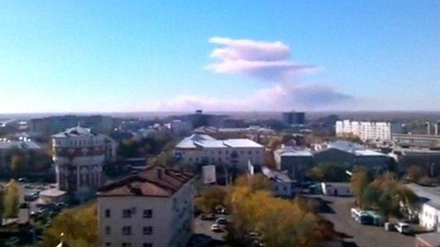 Explosion at military base close to Orenburg