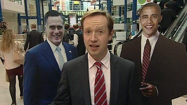 Mitt Romney, Adam Fleming and Barack Obama