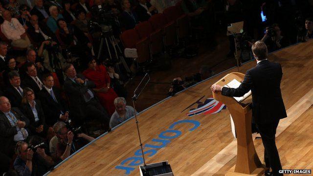 David Cameron speaking in Birmingham
