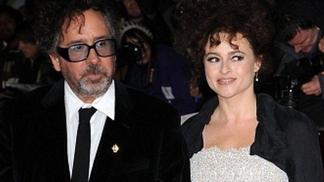 Tim Burton and Helena Bonham Carter attend the premiere of Frankenweenie