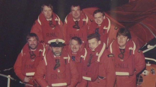 Dover lifeboat crew in 1987