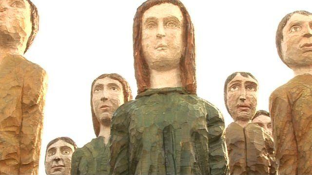 Polish wood sculptures