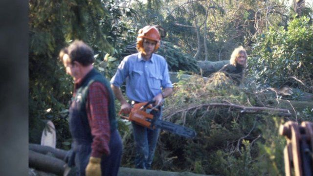 David Marchant in October 1987 after the Great Storm