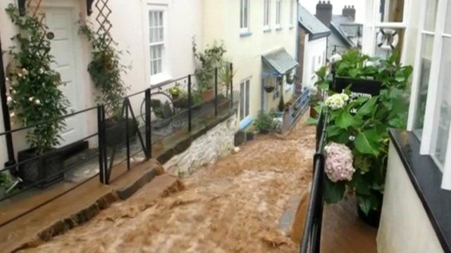 River of mud pours through Clovelly