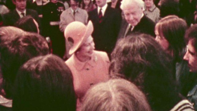 The Queen visits Stirling in 1972