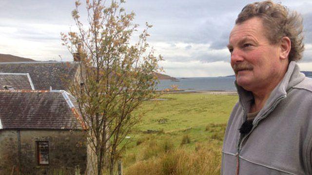Iain Wilson, sheep farmer