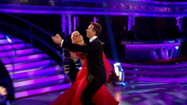 Michael Vaughan dancing in Strictly Come Dancing