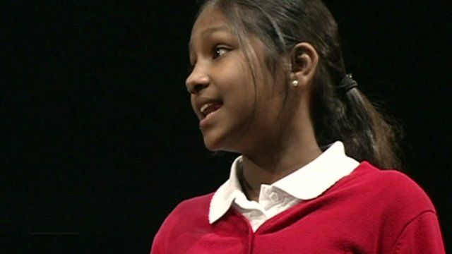 Student performing Shakespeare
