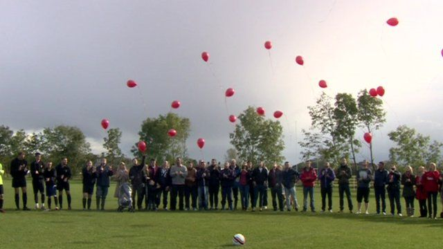 Balloons released for Mike Jones