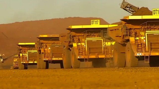 iron ore mining trucks in Australia